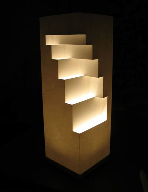 How To Make A Paper Light - geometric cut paper table l