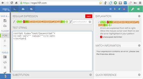 javascript pattern matching lastindex html script regex js syntax don t load help needed