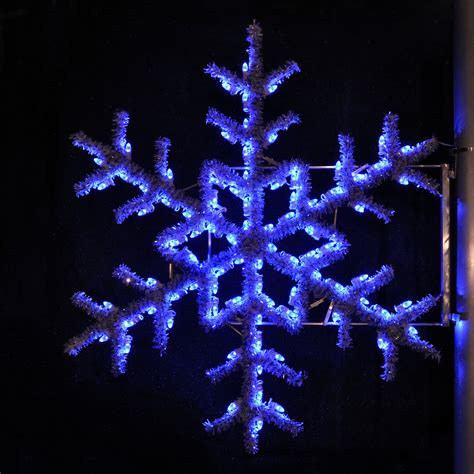 blue outdoor decorations shop lighting specialists 5 ft garland snowflake