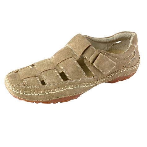 mens leather fisherman sandals gbx sentaur mens leather lined outdoor casual shoes