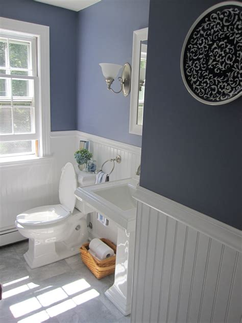 half bath with 2 tone paint for the home pinterest simple beautiful home half bath redo