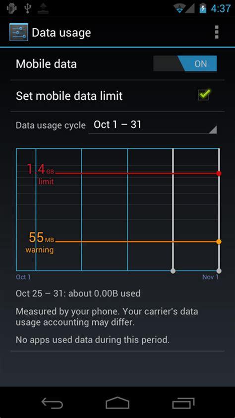 android data usage android 4 0 data usage androidtapp