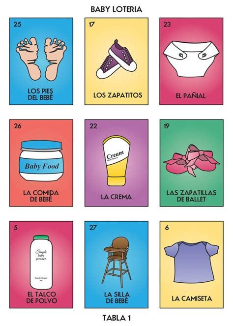 Loteria Baby Shower Pdf by Baby Loteria Baby Lottery Baby Bingo Baby Shower By