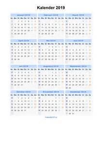 Kalender 2018 Und 2019 Kalender 2019 Jaarkalender En Maandkalender 2019 Met