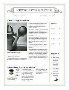 Free Newsletter Templates Downloads For Word by Free Newsletter Template For Word 2007 And Later