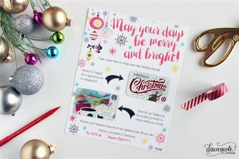 printable christmas card bus driver christmas gift card printable dawn nicole designs 174