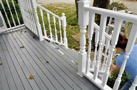 gray painted decking   onboard pun intended