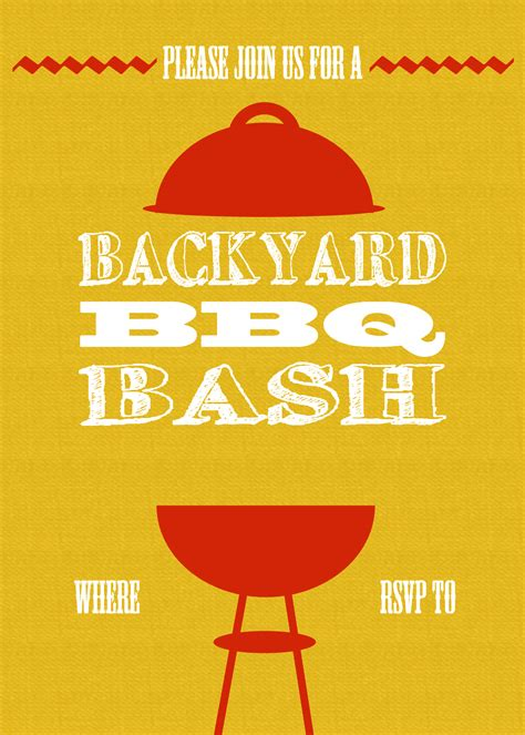 bbq invite template diy printable backyard bbq bash invite