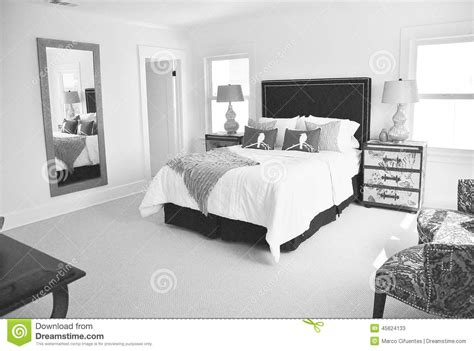 white bedroom carpet bright black and white bedroom stock photo image 45624133