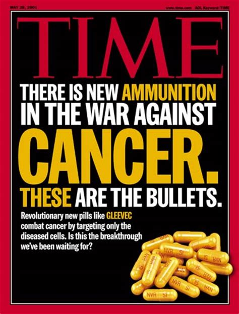 gleevec cancer pill time magazine cover drugs that fight cancer may 28
