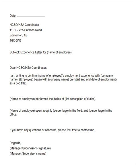 internship experience certificate format doc best new experience