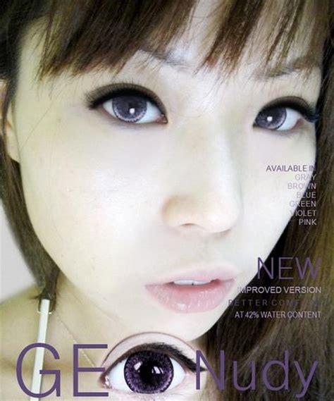geo nudy violet geo nudy violet lens ch 621 contacts cow