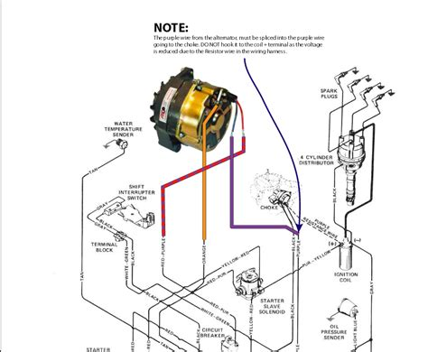 mercruiser alternator voltage regulator wiring diagram