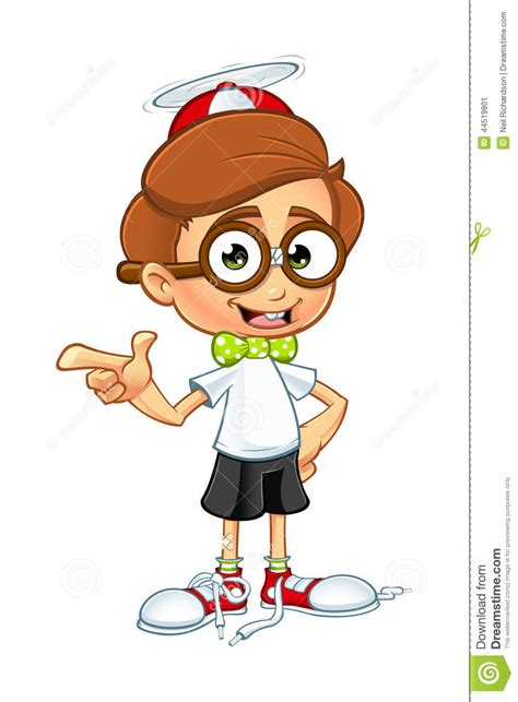 imagenes animadas inteligentes cartoon nerd boy character stock vector image 44519801