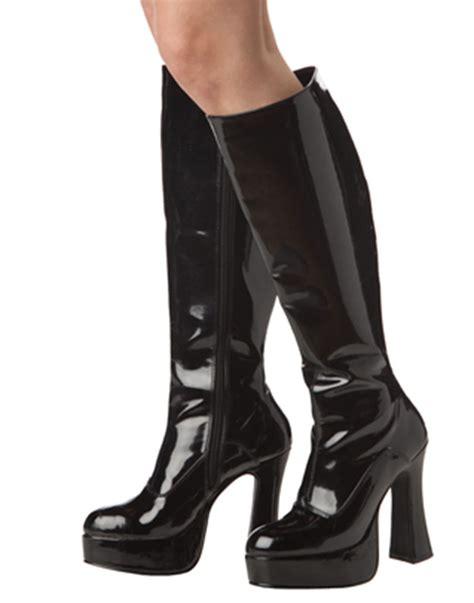 black platform go go cat boots womens