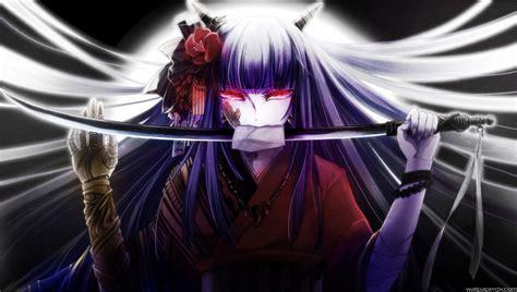 Anime Girl Kimono Wallpaper Hd | girl anime katana kimono anime hd wallpaper wallpaperdx