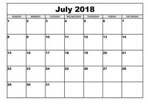Printable Timetable July 2018 Printable Calendar Templates