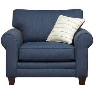 Navy blue accent chair with leather and velvet accent chair design