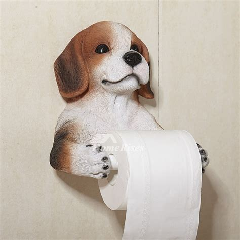 Dog Toilet Paper Holder | dog toilet paper holder wall mount carved resin
