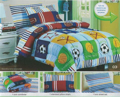 Bedding For Boys Boys Bedding Comforter Set Blowoutbedding Decorate Boys Sports Soccer Basketball Baseball Comforter Set 5pcs Size Bedding Set Ebay