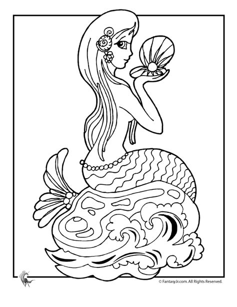 coloring page for mermaid printable mermaid coloring pages coloring home