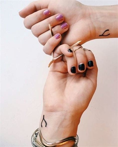 small matching tattoo wishbone ideas tattoos tattoos friend
