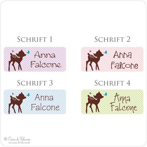 Namensaufkleber Stifte by Namensaufkleber Reh Casa Di Falcone
