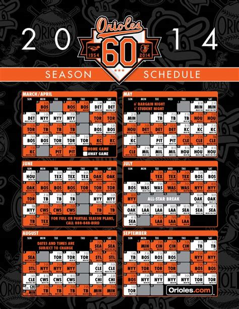 Angels Giveaway Schedule - 2014 orioles promotional schedule party invitations ideas