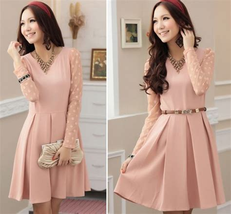 Dress Mini Bodycon Pesta Pink Hitam Katun Murah Import Cina gaun modern panjang hairstylegalleries