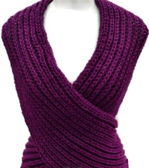 bufanda collar tejido en dos agujas patron en espa 241 ol para chaleco cruzado tejido en dos