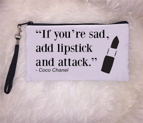 Lipstick Chanel Quotes lipstick clutch quote clutch clutch makeup clutch coco