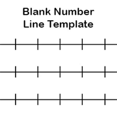 printable integer number line template printable blank number line templates for math students
