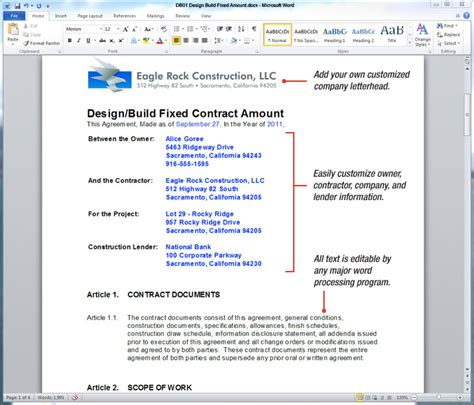 design build contract format uda constructiondocs design build construction contract