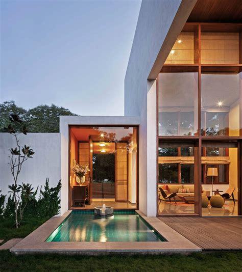 Garden Room Archdaily Gallery Of L Plan House Khosla Associates 3