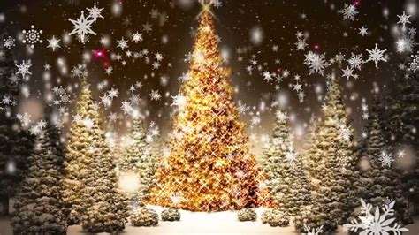 snowflakes falling christmas trees motion graphic video loop   hd youtube