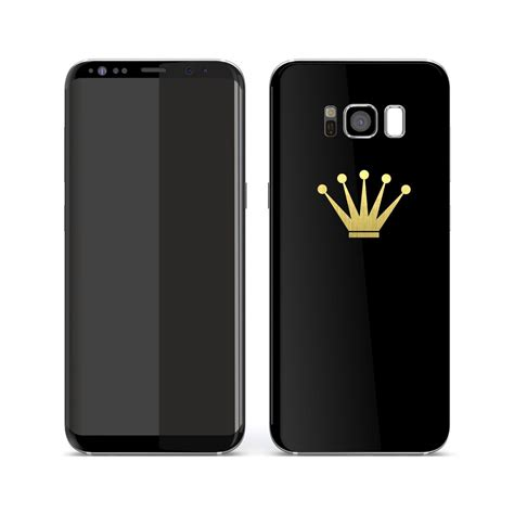 Samsung Hdc S8 Ultimate Black samsung galaxy s8 plus custom crown skin easyskinz