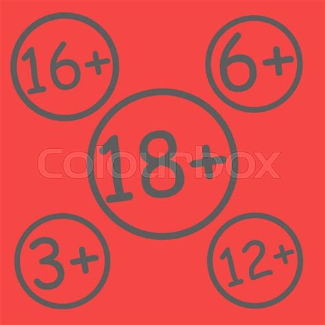 in color age limit age restriction signs age limit sign vector