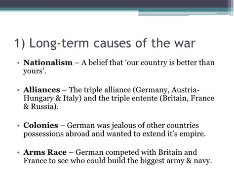 Was Nationalism The Cause Of Ww1 Essay by History Revision 1 Causes Of Ww1