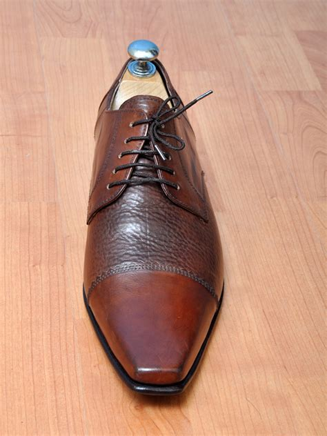 Handcrafted Leather Shoes - handmade mens fashion brown oxford dress leather shoes