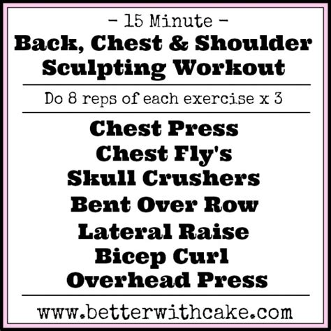 15 Minute Chest Workout Routine Shoulder Chest Back Workouts Most Popular Workout Programs