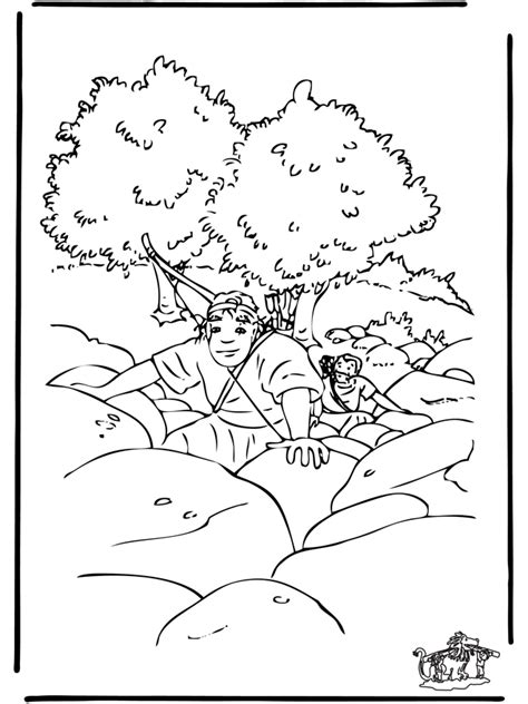 bible coloring pages old testament david and jonathan sketch template - David Jonathan Coloring Pages