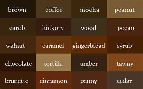 the color thesaurus brown brown coffee and designers