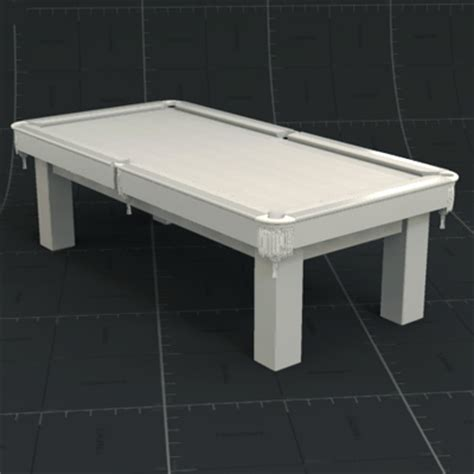 white pool table 3d model formfonts 3d models textures