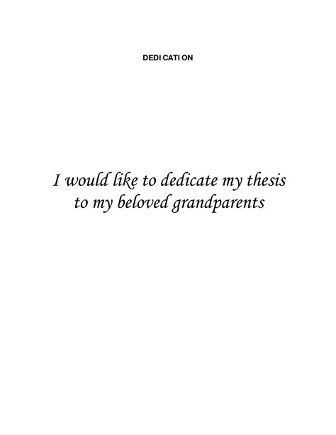 Research Dedication Letter Dissertation Dedications