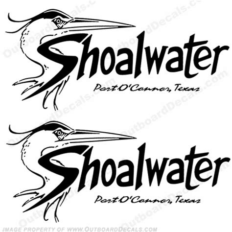 boat logo decals shoalwater boat logo decals set of 2