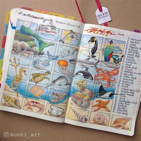 doodle challenge ideas doodles onki art bullet journaling mit veronika kilcher