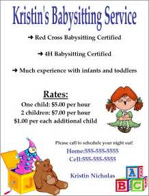 babysitting flyer template babysitting quotes for flyers quotesgram
