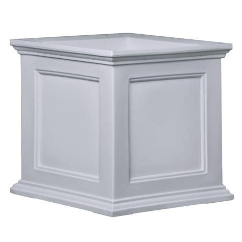 white 20 inch square patio planter box best patio