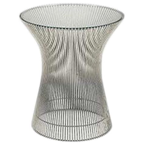 Wire Side Table Vintage Warren Platner For Knoll Wire Glass Side Table
