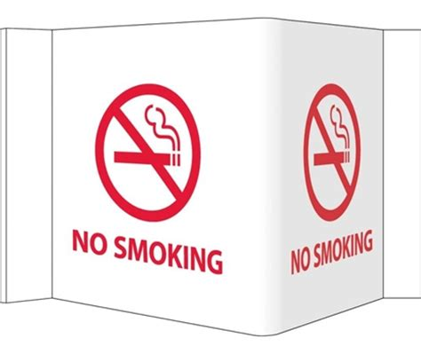 no smoking sign with stand no smoking 3 way wall projection signs
